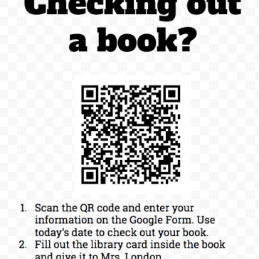 book checkout QR